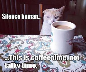 silence human coffee time