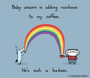 unicorn + coffee